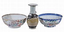Two famille rose bowls , Qing Dynasty, Qianlong