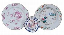 A Chinese famille rose soup plate , Qing Dynasty, Qianlong