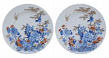 A pair of Chinese Imari plates, Qing Dynasty , Qianlong