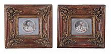German School Portrait miniatures of Bishop-Electors A pair