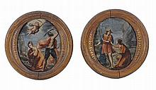 Italian School The Martyrdom of St. Catherine A pair, oil on copper Each c