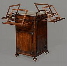 An early Victorian rosewood quartet stand, circa 1840