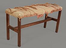 A Late George III mahogany duet seat, circa 1810