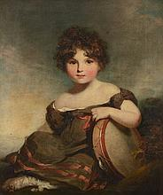 William Owen, RA (1769-1825) - Portrait of Lady Elizabeth Russell as a girl, seated with a tambourine