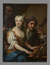 Martin van Mytens the Younger (1695-1770) - A concert group: