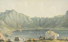 John Warwick Smith (1749-1831) - Llyn Idwal, on the approach from Llyn Ogwen
