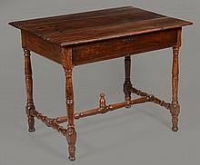 A French provincial fruitwood side table , first half 18th century