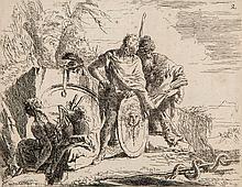 Giovanni Battista Tiepolo (1696-1770) - Varii Capricci (soldiers resting)