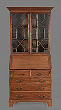 A mahogany bureau bookcase in George III style , late 19th/early 20th century