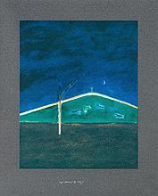 Craigie Aitchison (1926-2009) - Sheep in the Moonlight