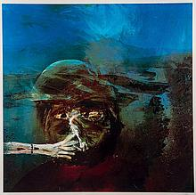 Sidney Nolan (1917-1992) - Miner Smoking from, The Miner Series