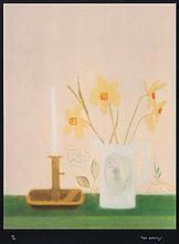 Craigie Aitchison (1926-2009) - Daffodils & Candlesticks