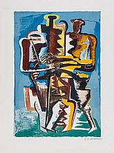 Ossip Zadkine (1890-1967) - Abstract Composition (Two Figures)