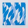 Bridget Riley (b.1931) - Two Blues, Bridget Riley, £1,200