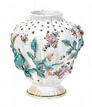 A Chelsea shouldered pot-pourri vase of pierced