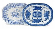 A Copeland late Spode blue and white printed
