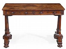 A William IV rosewood library table, in the manner