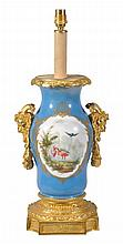 A French gilt bronze mounted Paris porcelain vase