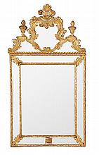 An Italian giltwood wall mirror, late 18th/early