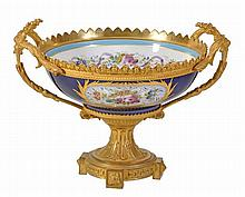 A Paris porcelain and gilt bronze mounted bowl