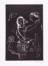Marc Chagall (1887-1985) - White on Black (m.682)