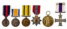An ISO and MC Group of 6 awarded to Captain Samuel Davenport Charles