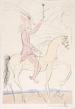 Salvador Dalí (1904-1989) - Amazone & Cavalier à la Rose (f.73-17AB)