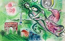 Marc Chagall (1887-1985)(after by Charles Sorlier) - Romeo and Juliet