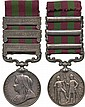 INDIA MEDAL, 1895-1902, 3 clasps, Punjab Frontier