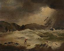 Attri. Alexander Kay Branden (fl. c.1865-1905) - Shipwreck