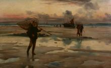 E. Mackey (late 19th, 20th century) - Landing the catch