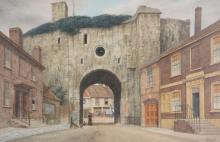 James Lawson Stewart (1809- 1911) -  The Landgate, Rye
