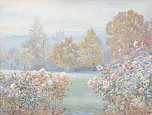 Beatrice E. Parsons (1870 - 1955) - A pair of English gardens