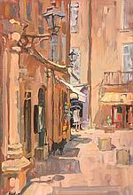 Susan Ryder (b.1944) - Place de L'Eglise, Sarlat