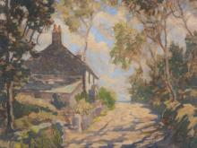 English School (early 20th century) - A country lane