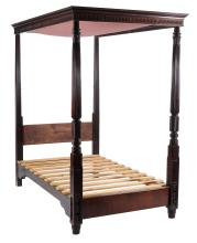 A mahogany four post bed in George III style, late 19th/ early 20th century