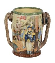 A Royal Doulton pottery The Lord Nelson Loving Cup, designed by Charles Noke