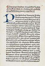 Aeneas Sylvius Piccolomini, Pope Pius II. Epistola