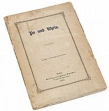 Engels (Friedrich) Po und Rhein, first edition,