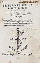 Manutius (Aldus, the Younger, editor) Eleganze
