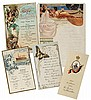 Cookery.- Menus. Menu Verband Deutscher