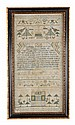 Mary Grigory, 1756/9, a needlework sampler,