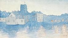 Thomas Matthews Rooke (1842-1942), Town scene,