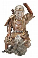 A Hirado porcelain model of Il no Hayata slaying