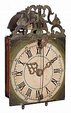 A Germanic iron framed weight-driven rack striking chamber clock with trip...