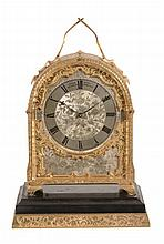 A fine Victorian engraved gilt brass hump-back carriage clock with...