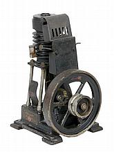 A very rare Ernst Plank German hot air engine, of early 20th century vertic
