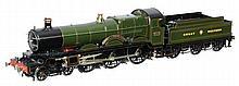 A very fine Gauge 1 model of a Great Western Railway Star Class 4-6-0 tende