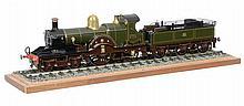 A fine Gauge 1 model of a Great Western Railway 4-2-2 Dean Single tender lo