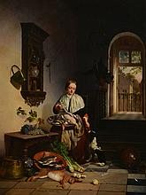 David Emile Joseph de Noter (1825-1892) - In the kitchen